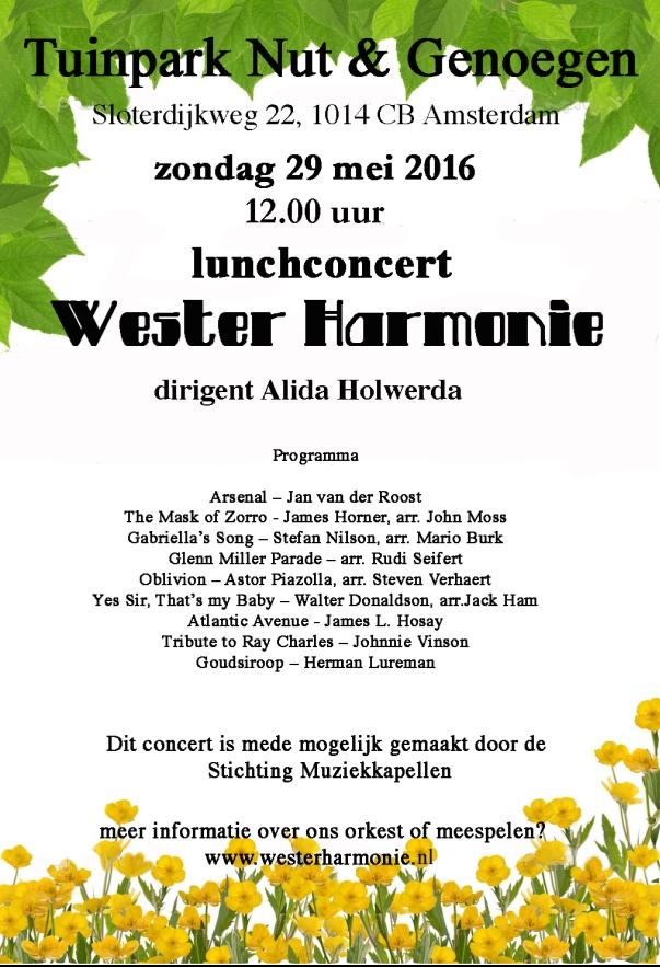 lunchconcert nut en genoegen 29 mei 2016